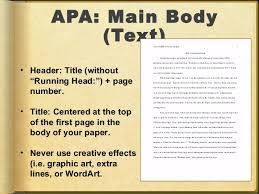 Help writing a apa research paper