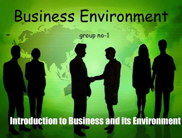 Unit 01 Business Business Environment