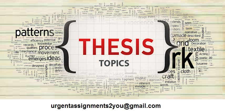 Select suitable thesis topic