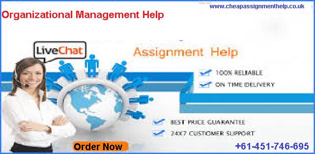 Organizational Management Help