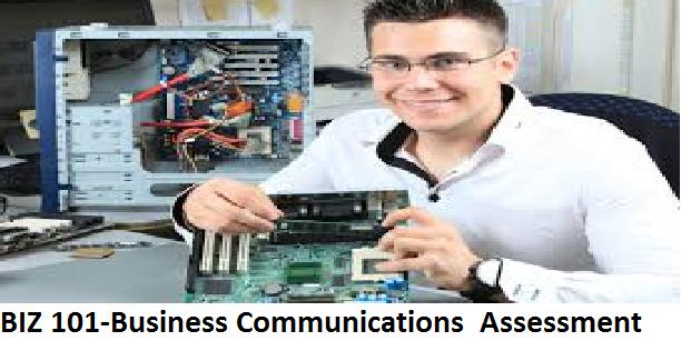 BIZ 101-Business Communications Assessment