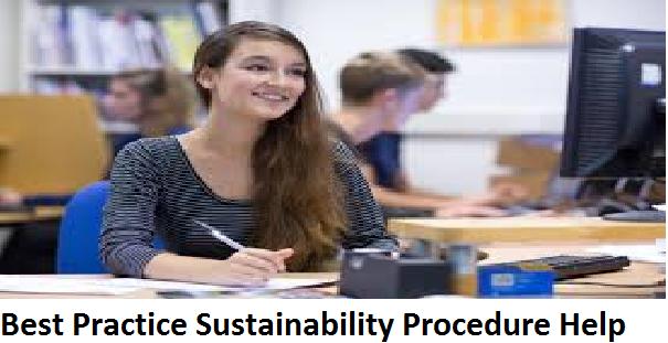Best Practice Sustainability Procedure Help