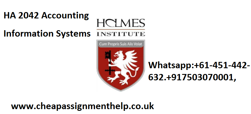 HA 2042 Accounting Information Systems