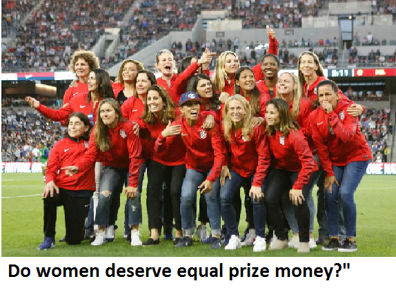 Do women deserve equal prize money?""